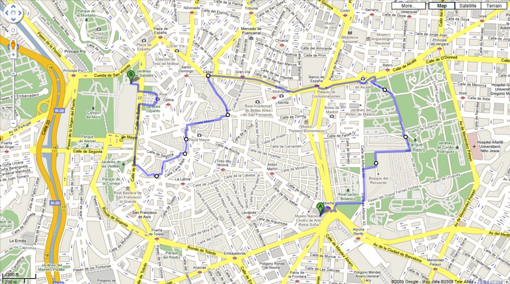 Map of afternoon walk