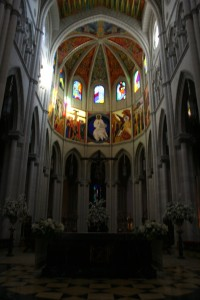 Interior of Almudena Cathedral