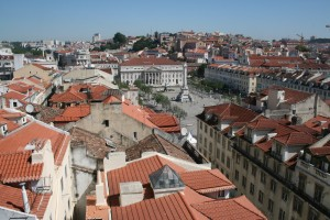 Rossio Square from Santa Justa Lift