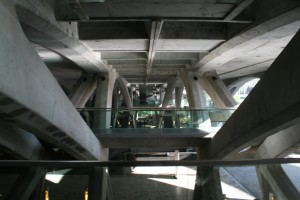 Underside of Estacao de Oriente Train Platform