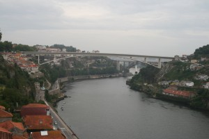Looking up the River from the Dom Luis Bridge