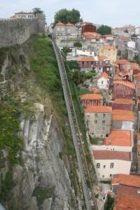 Tracks of Funicular dos Guindais