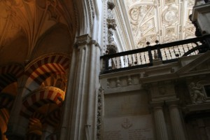 Wing of Cathedral of Cordoba interacting with Great Mosque